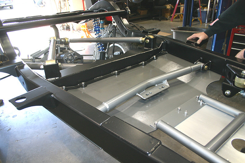 Shown here with SKP-2500 belly UP skid plate, bolts directly on