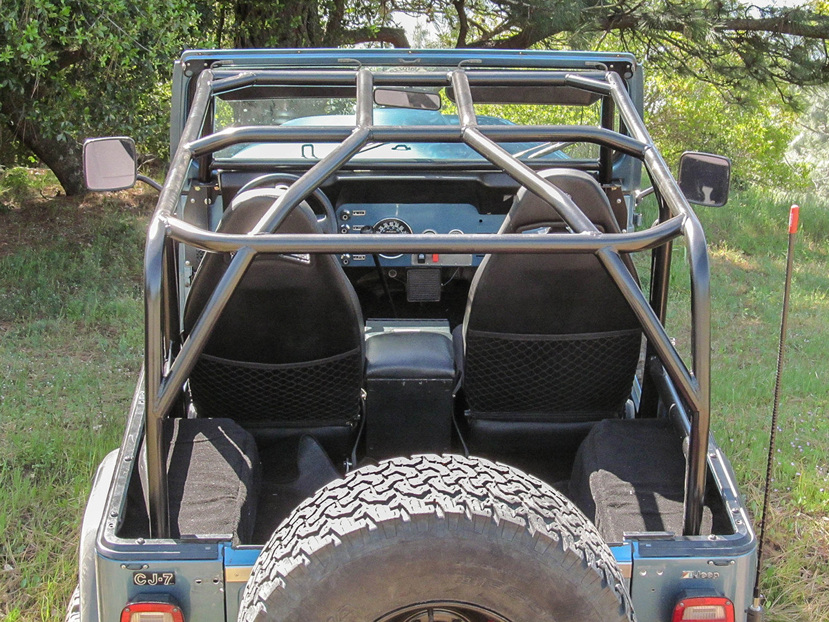 GenRight Off Road Jeep CJ-7 Full Roll Cage Shown with no optional bars