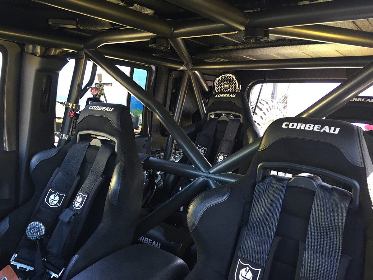 Interior space with GenRight cage installed