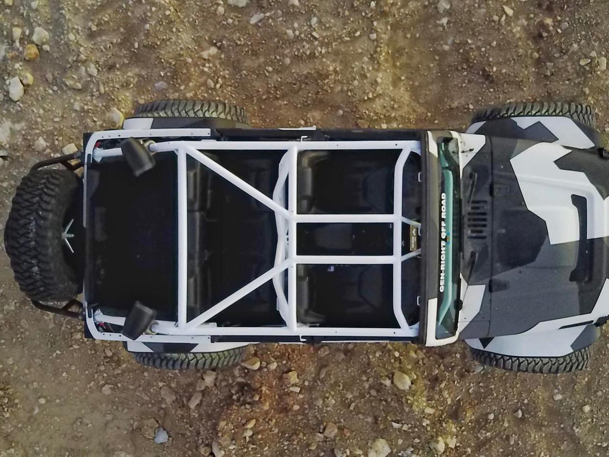 JK (4 Door) Full Roll Cage Kit overhead view