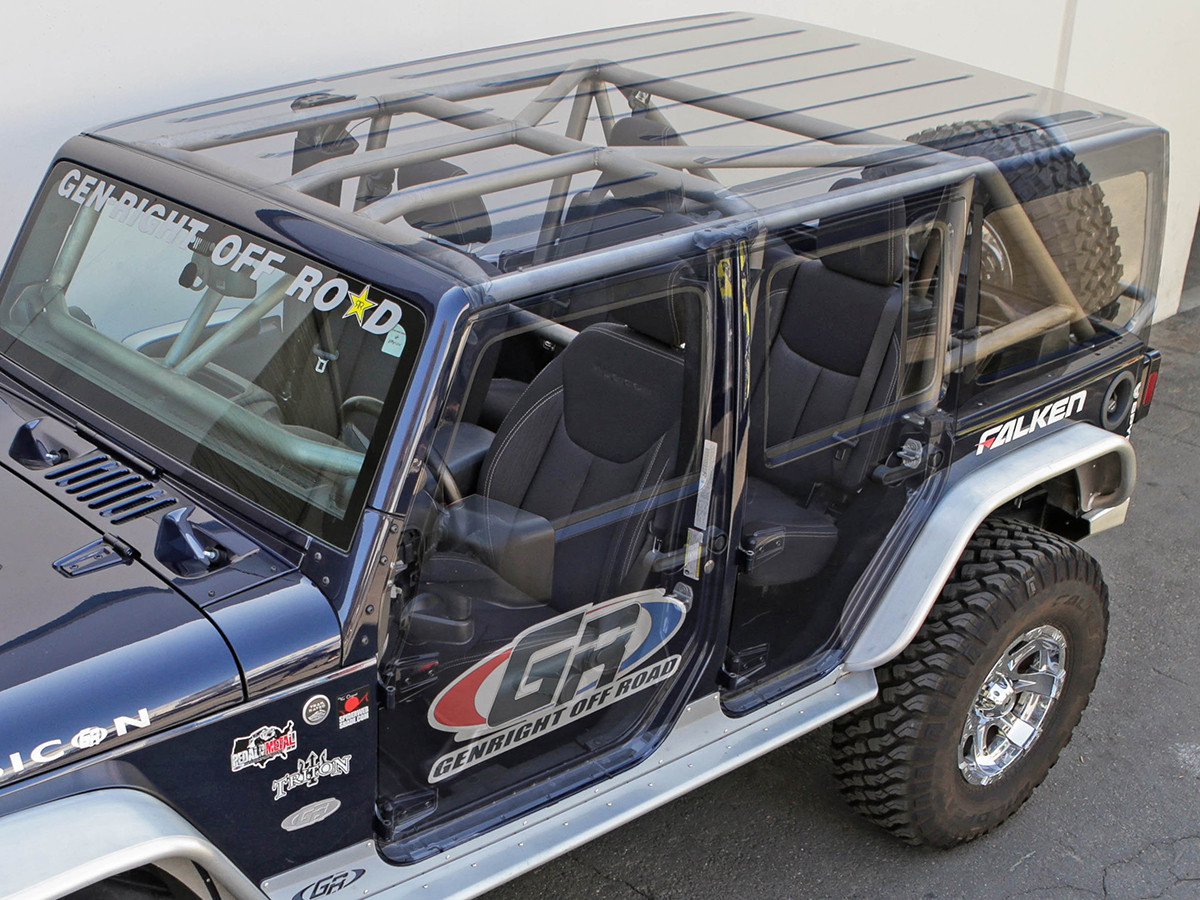 Compatible with factory hard top, soft top & doors