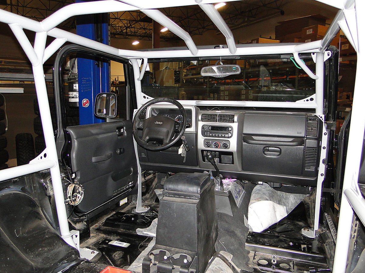 This interior photo shows the tubes in a standard cage w/o options