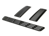 GenRight 3 piece long hood louver set in black