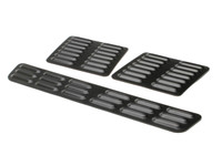 Hood Louver Set, 3pc Short - Black