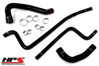 HPS TJ (97-'01) 4.0L Reinforced Silicone Radiator + Heater Hose Kit (Black)