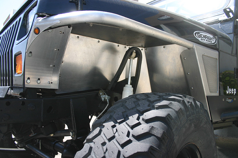 Shown here with standard height YJ tube fenders