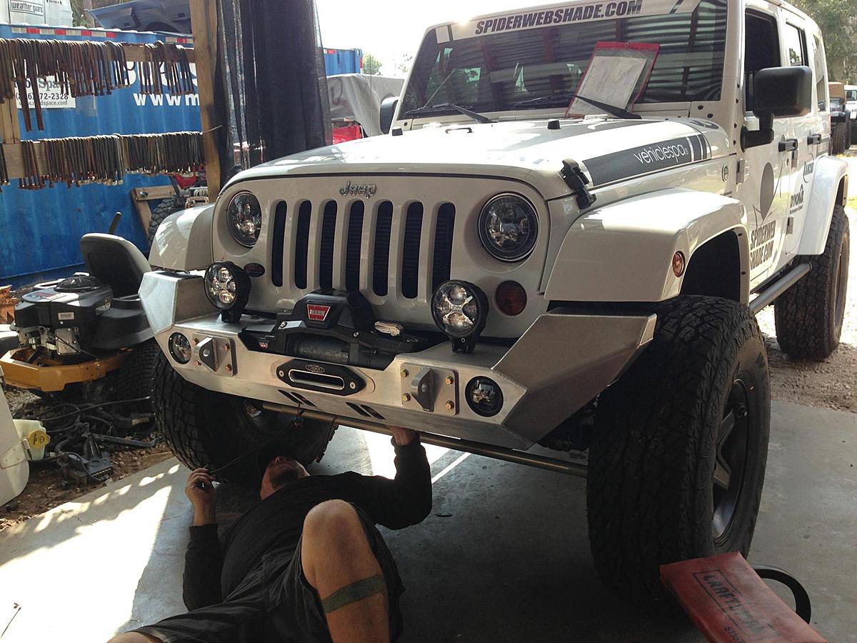 Jeep Wrangler Jk Front Bumper >> Jk Full Width Front Bumper Aluminum Genright Jeep Parts