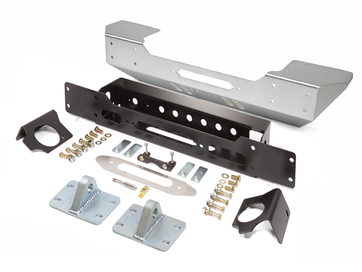 GenRight JK Stubby Style Front Bumper in Aluminum