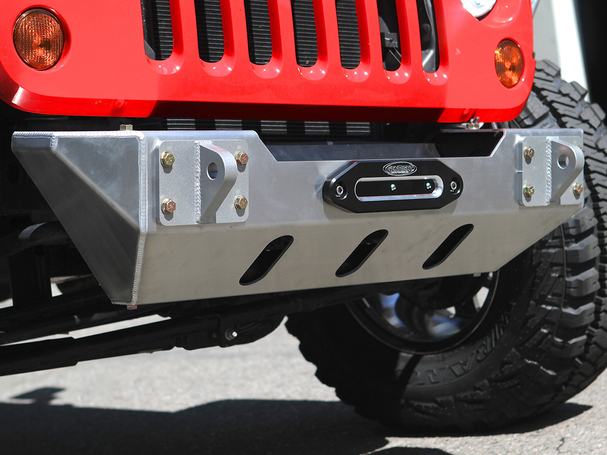 JK Stubby Front Bumper with natural brushed Aluminum finish