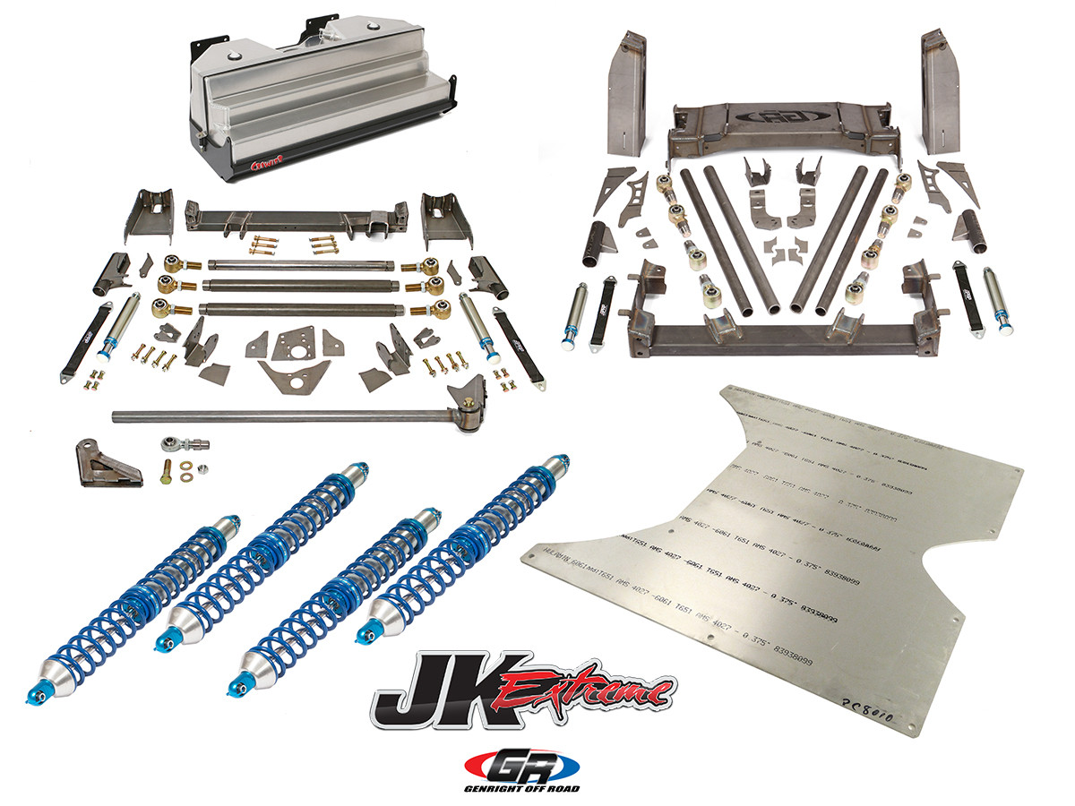 GenRight's Extreme Stretch Suspension System for the 2 door JK