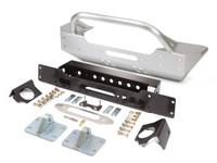 JK Low Profile Winch Guard Front Bumper - Aluminum