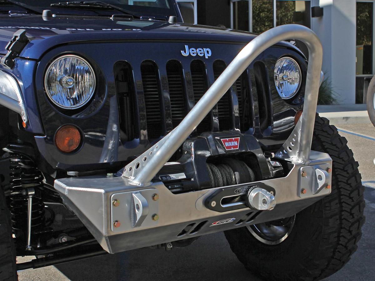 Jeep Wrangler Jk Front Bumper >> Jk Boulder Stinger Front Bumper Aluminum