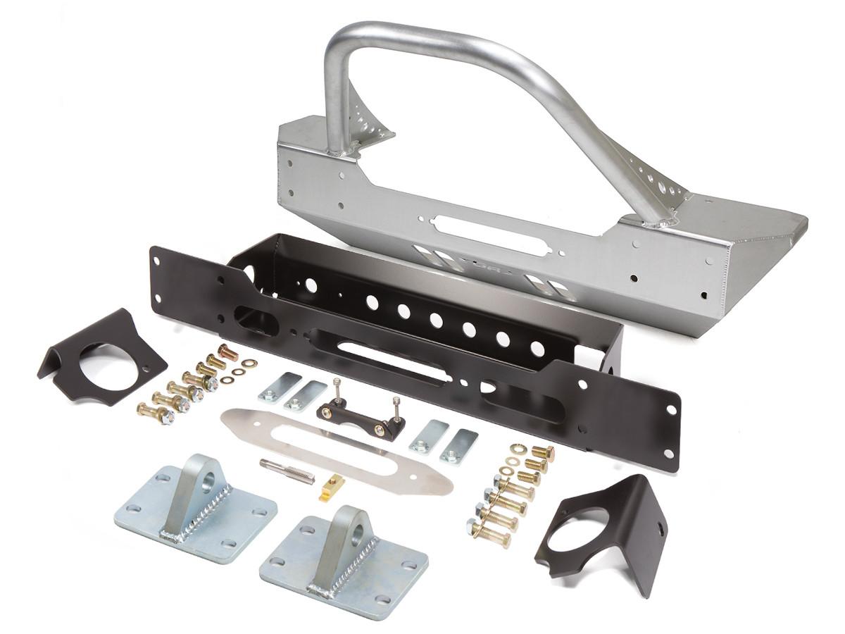 JK Winch Guard Front Bumper - Aluminum