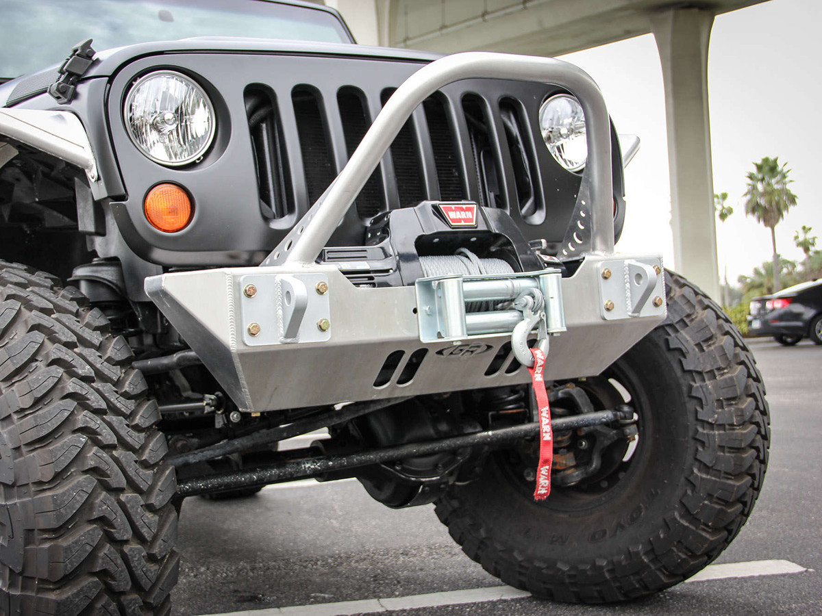 Detailed 3/4 View of the GenRight front JK bumper