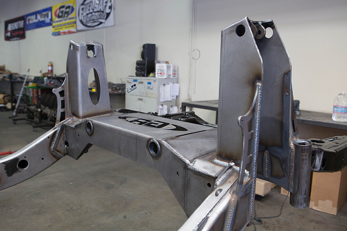Assembly welded into place on the frame (Bump cans sold separately)