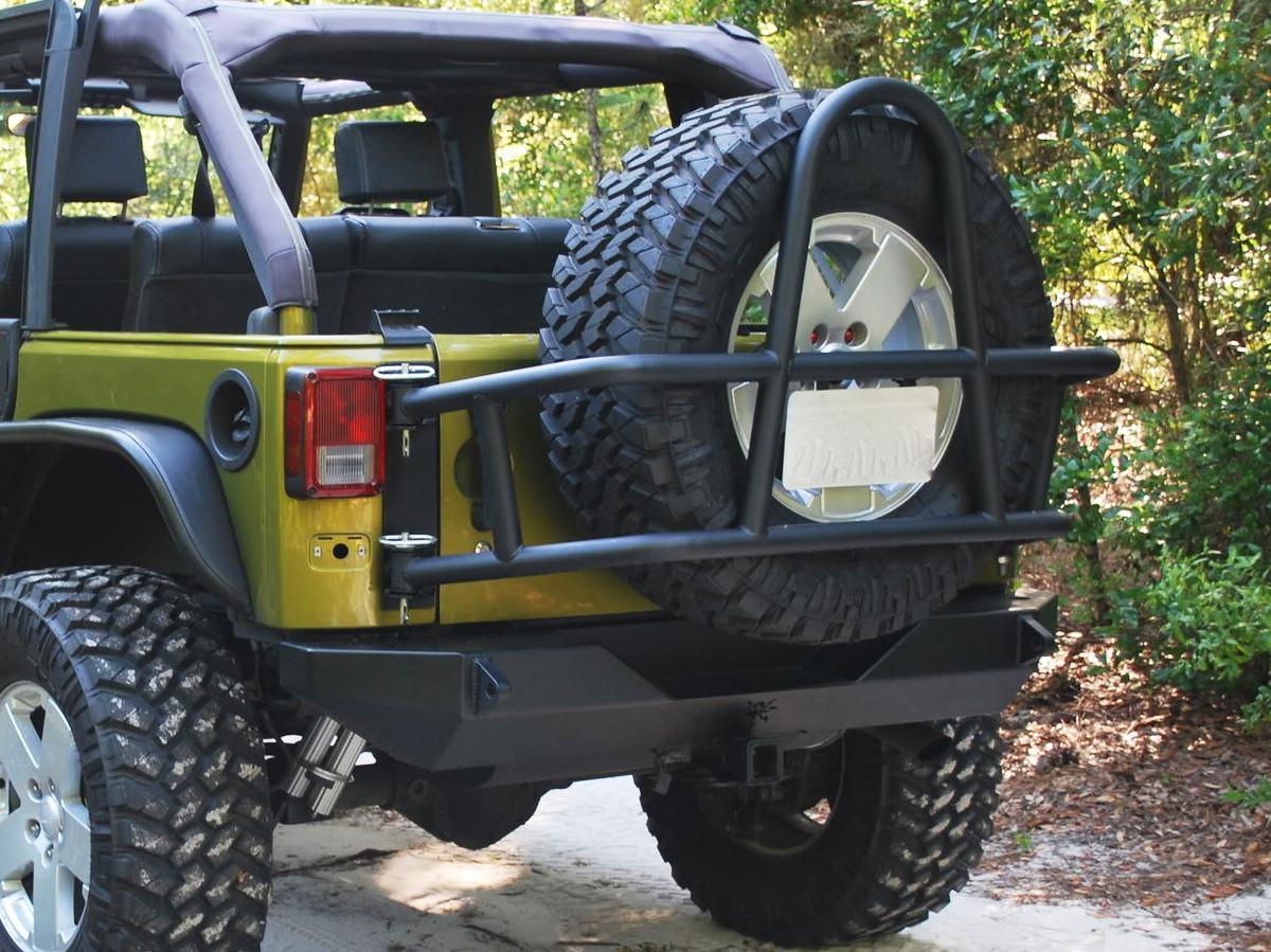 JK Swing Out Rear Tire Carrier - Black