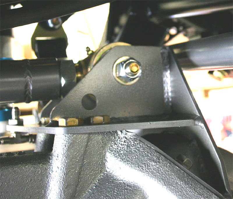 Johnny used on an upper control arm of a suspension