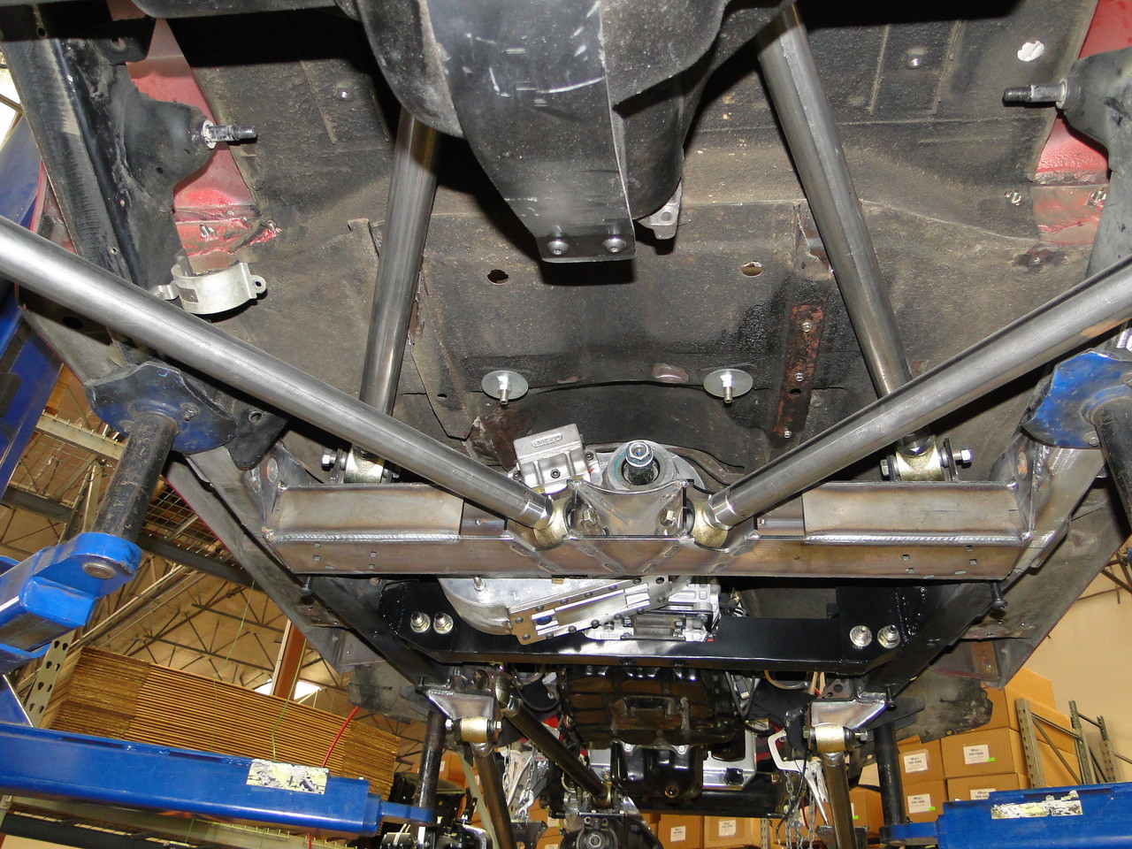 Johnny  joints on double triangulated rear suspension