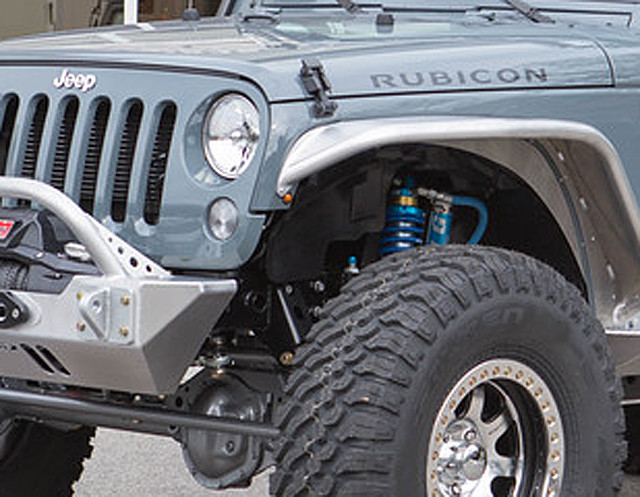 Cleanly mounted LED side marker lights on a Jeep JK