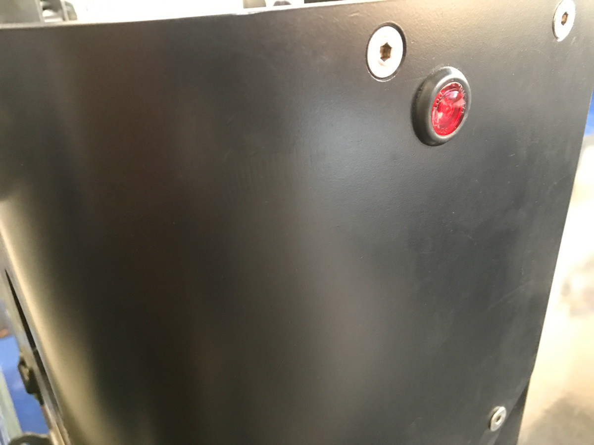 These lights are nearly flush when mounted (shown here in a rear corner guard).