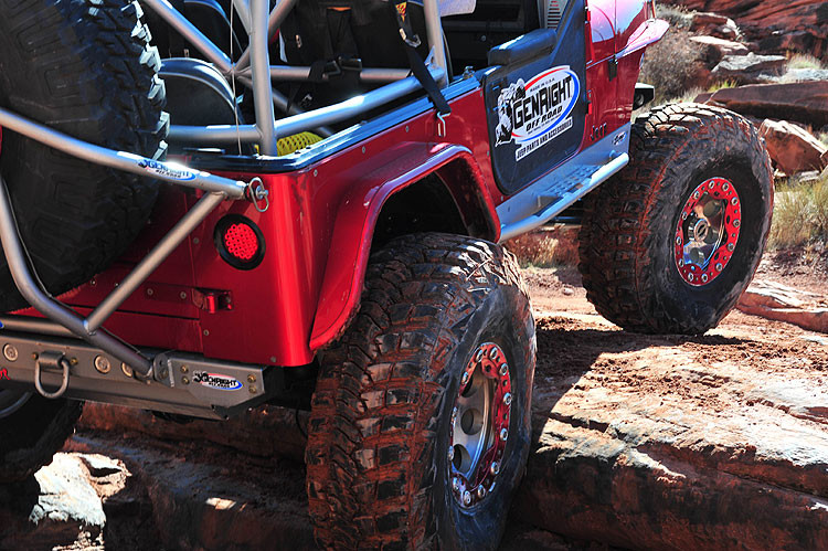 We used 4 of these in the rear bumper on the GenRight Growler YJ.