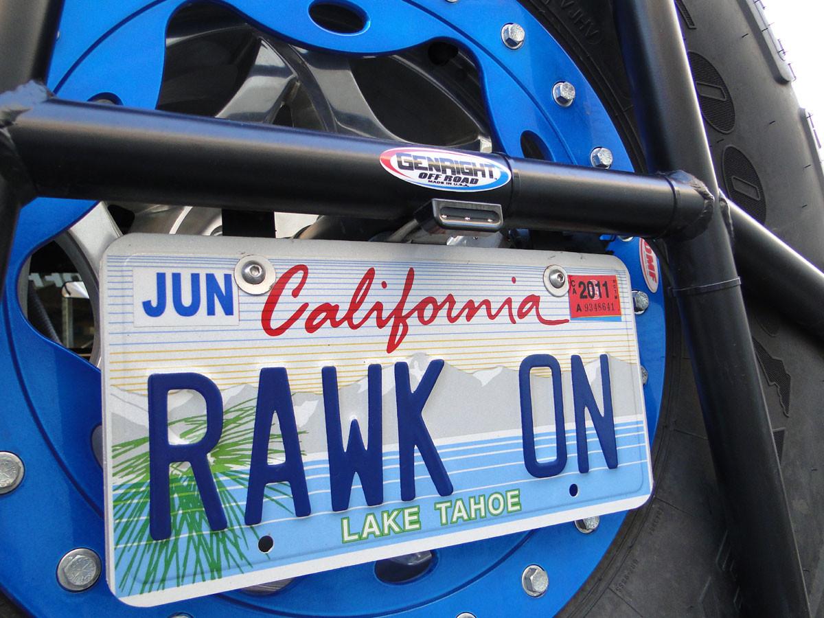 LED1650 license plate light with 3rd brake light.