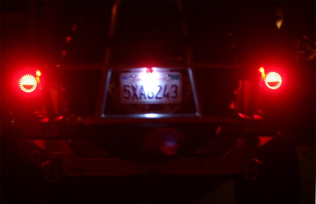 LED 3rd brake light on at night