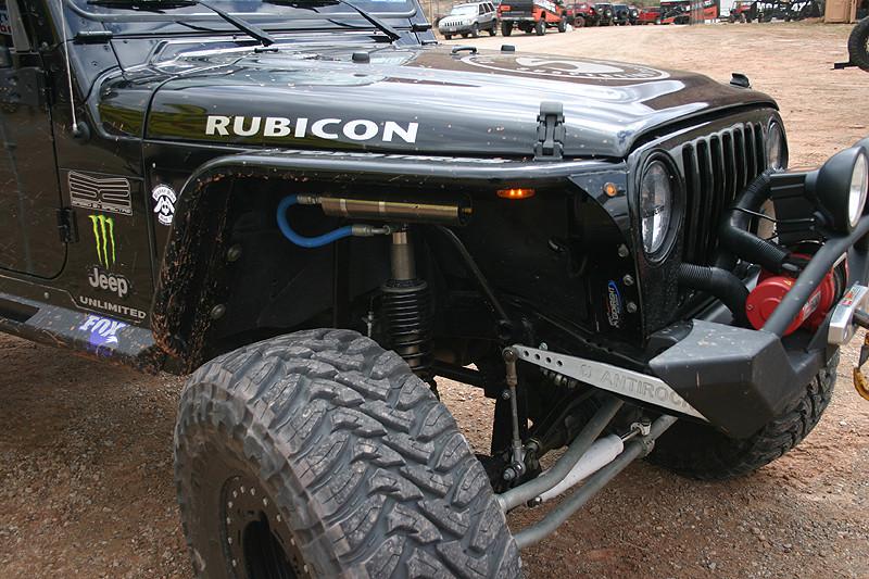 Amber LED side marker lights on a Jeep TJ