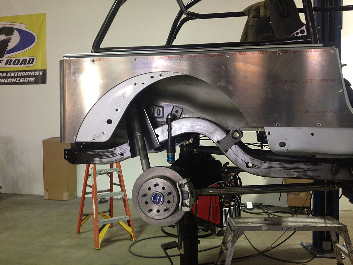 """Here is an example of how the Corner Guard blanks can be cut for a 42"""" tire on a stretched LJ"""