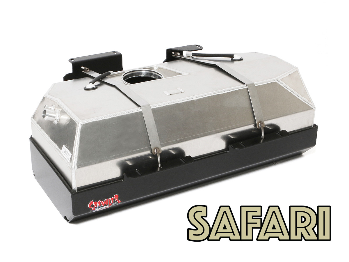 GenRight Safari Extended Range 32 gallon gas tank and skid plate for the Jeep Unlimited