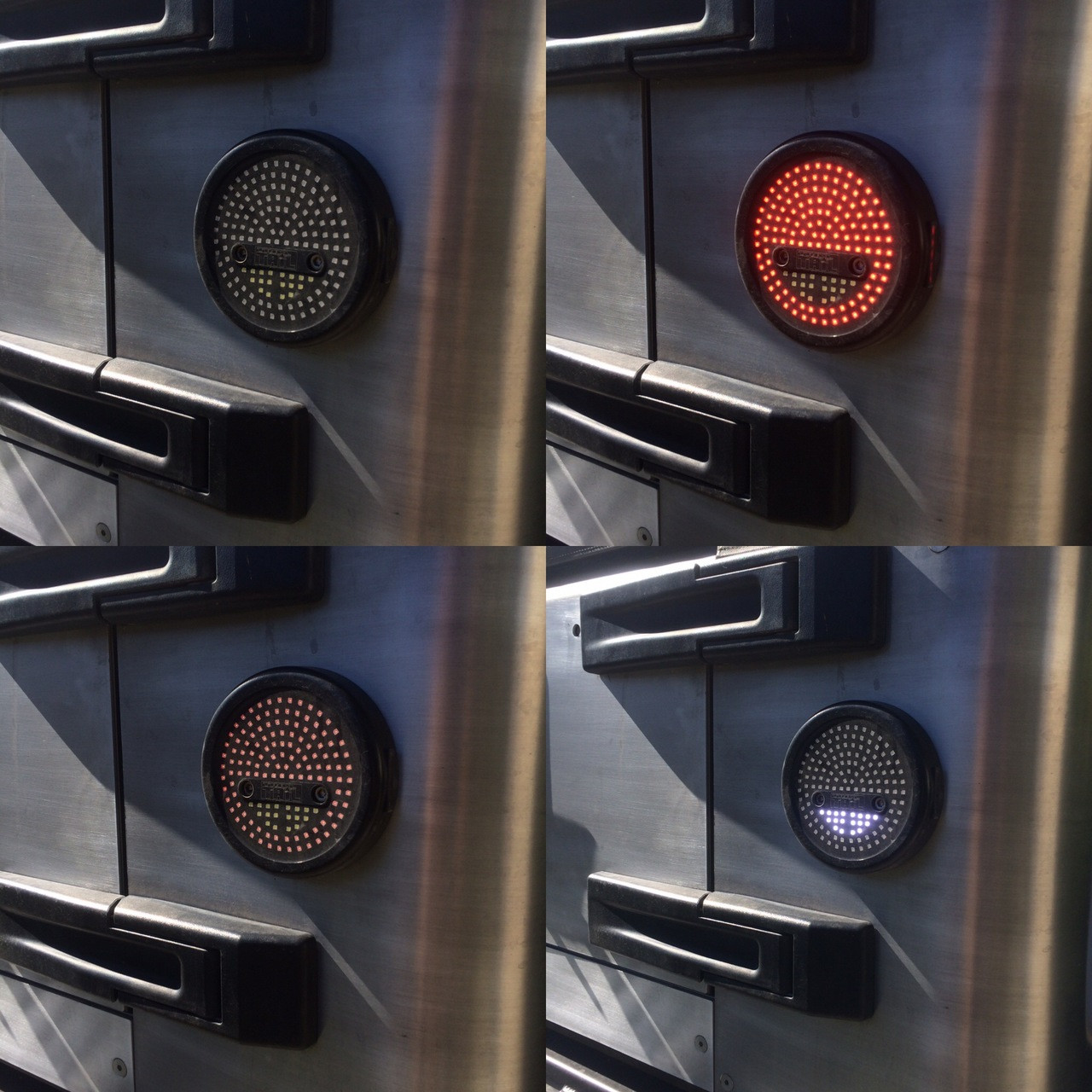 4 stages on the LED tail lights (off, stop, running and reverse)