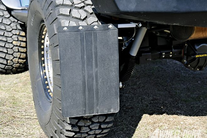 "Mud Flap Kit mounted on a Jeep with 37"" tires"