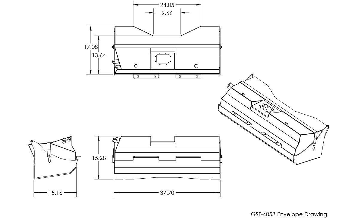 Basic tanks dimensions for the GenRight YJ New Comp GST-4053