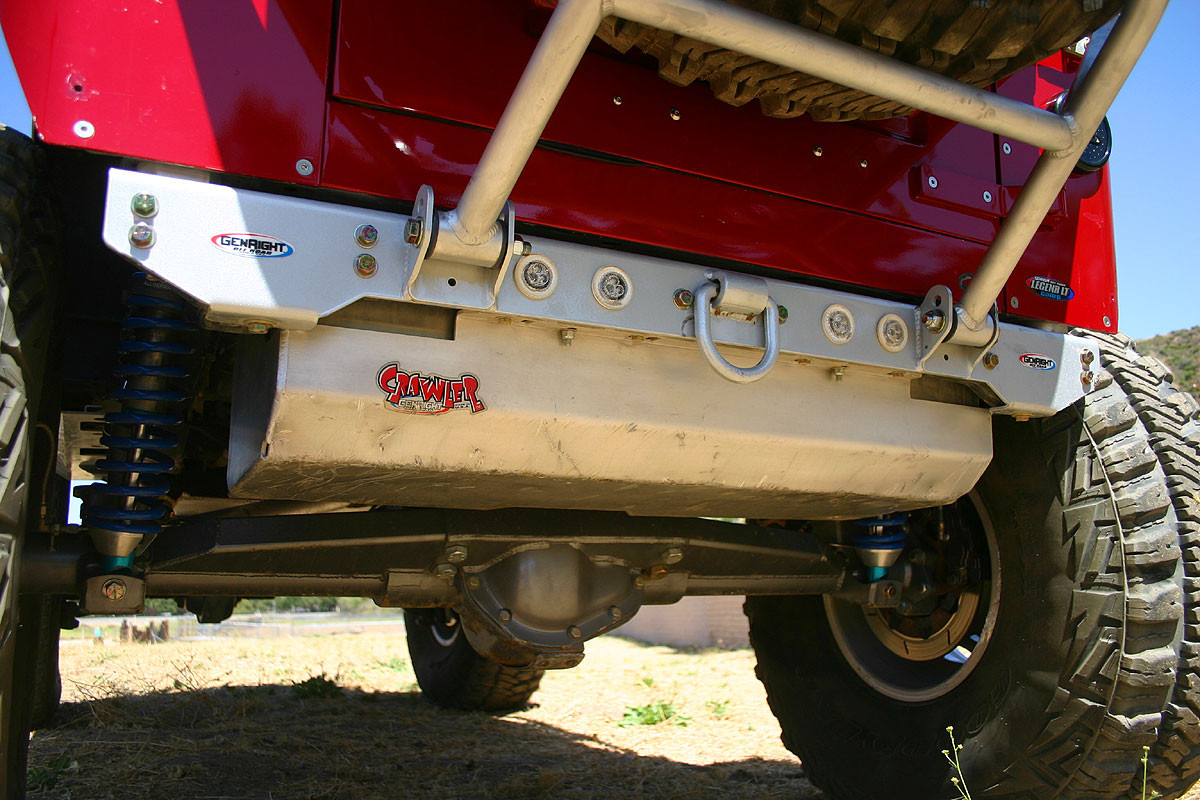 Shown here on the GenRight Growler YJ with optional 6061-T6 aluminum skid plate
