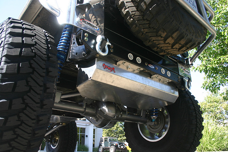 Rear bumper plate shown here with 2 extra back up lights in it.