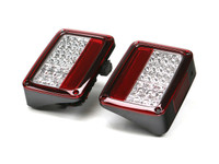 JK Spyder Auto LED Tail Lights in (Red/Clear)