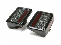 Spyder Auto JK LED Tail Lights in Smoke