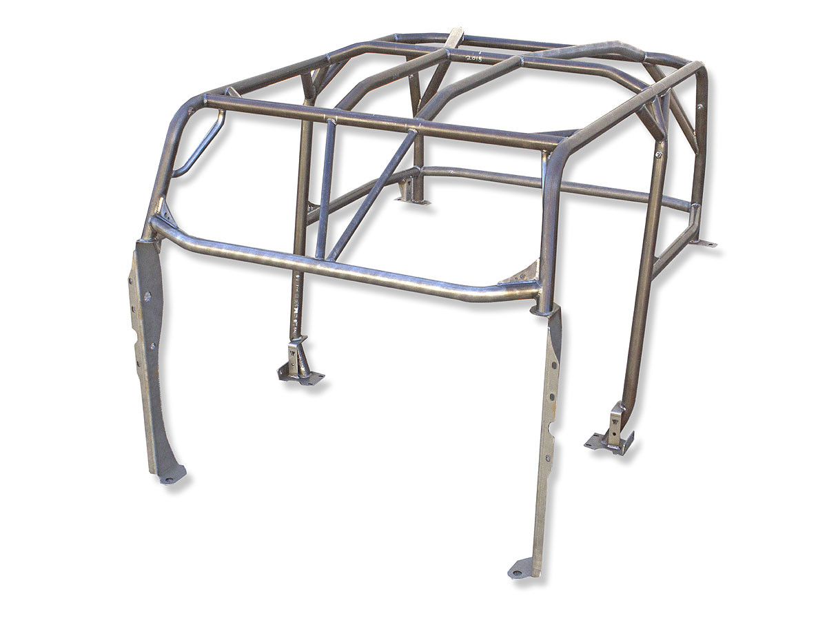 Here you can see the stanchions on a fully welded cage out of the vehicle.