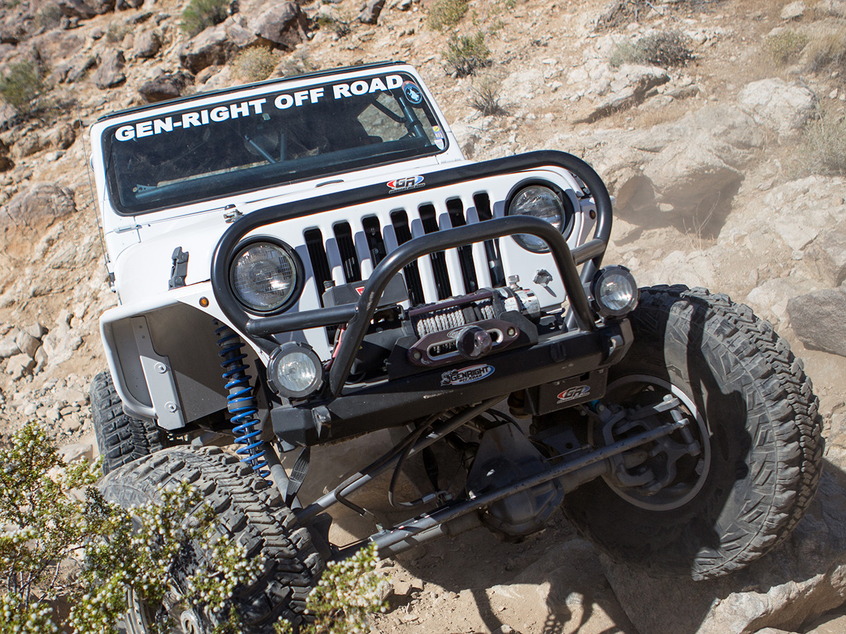 TJ & LJ  Winch/Grill Guard Front Bumper, powder coated black