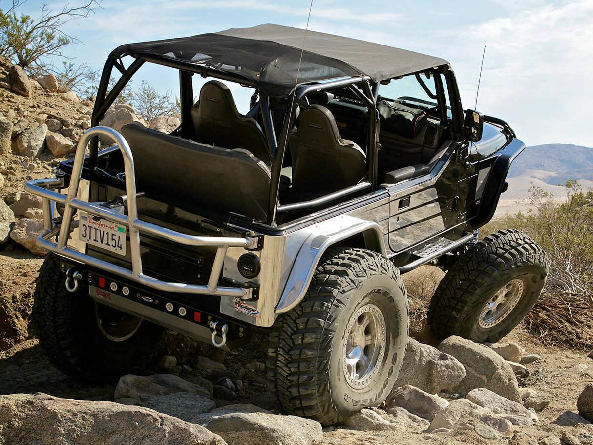 GenRight Stage 1 Suspension Package on the GenRight Bowtie TJ