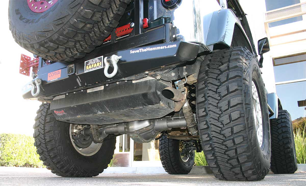 Pictured is a GenRight gas tank with skid plate installed on a 2002 TJ