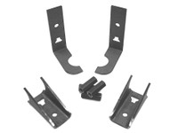 Parts kit to adapt factory seat belts to a GenRight roll cage.
