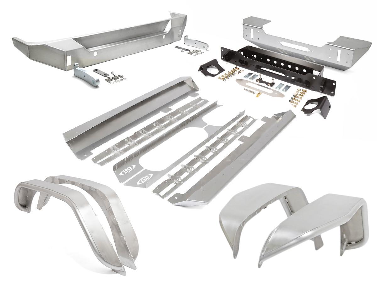 GenRight's Aluminum Armor Package for the Jeep JK 4 door
