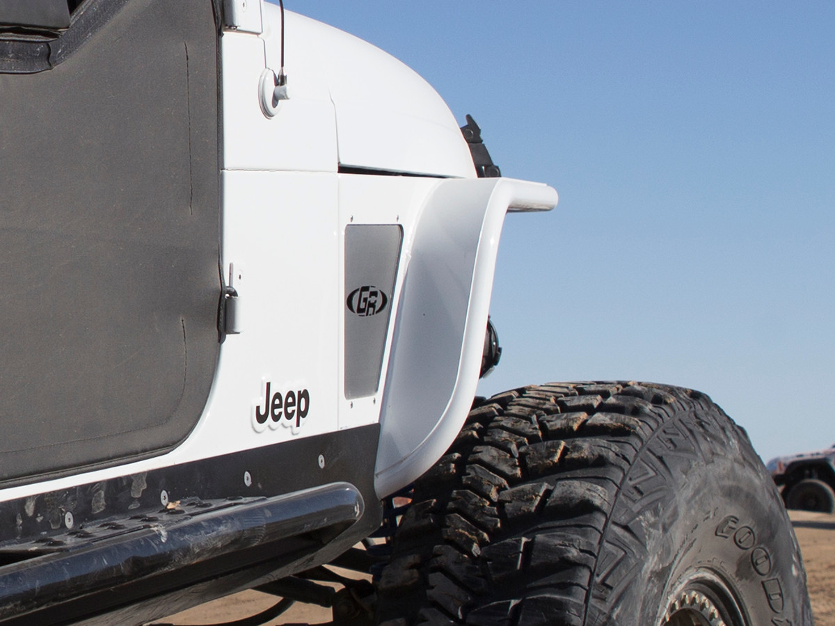 GenRight YJ metal fenders painted to match and mounted
