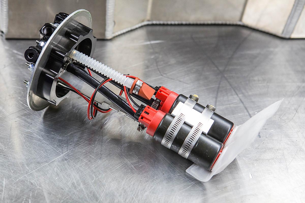 Close up on the internals on the Aeromotive dual 340 Phantom pump