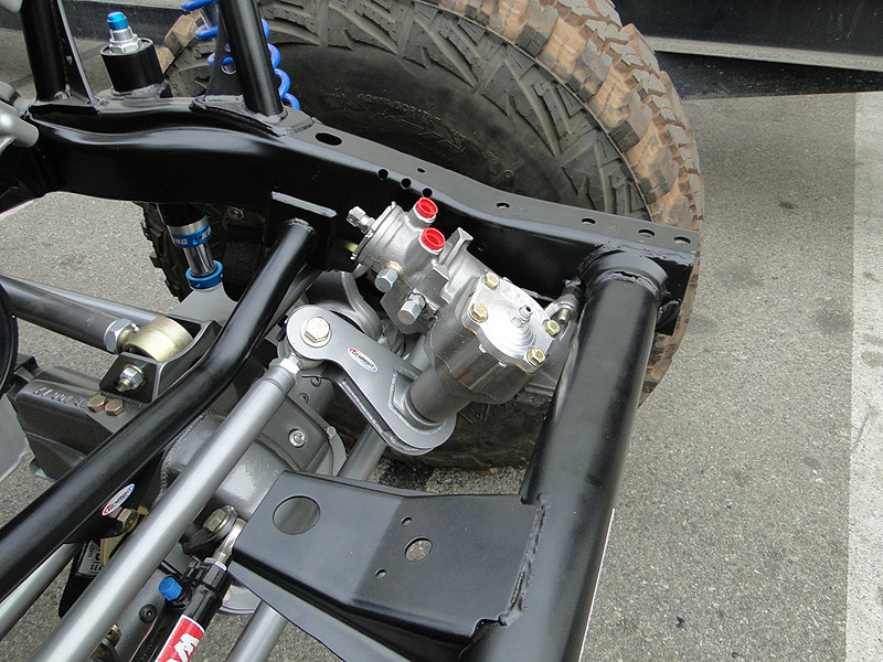 Shown here mounted on a Jeep TJ steering box