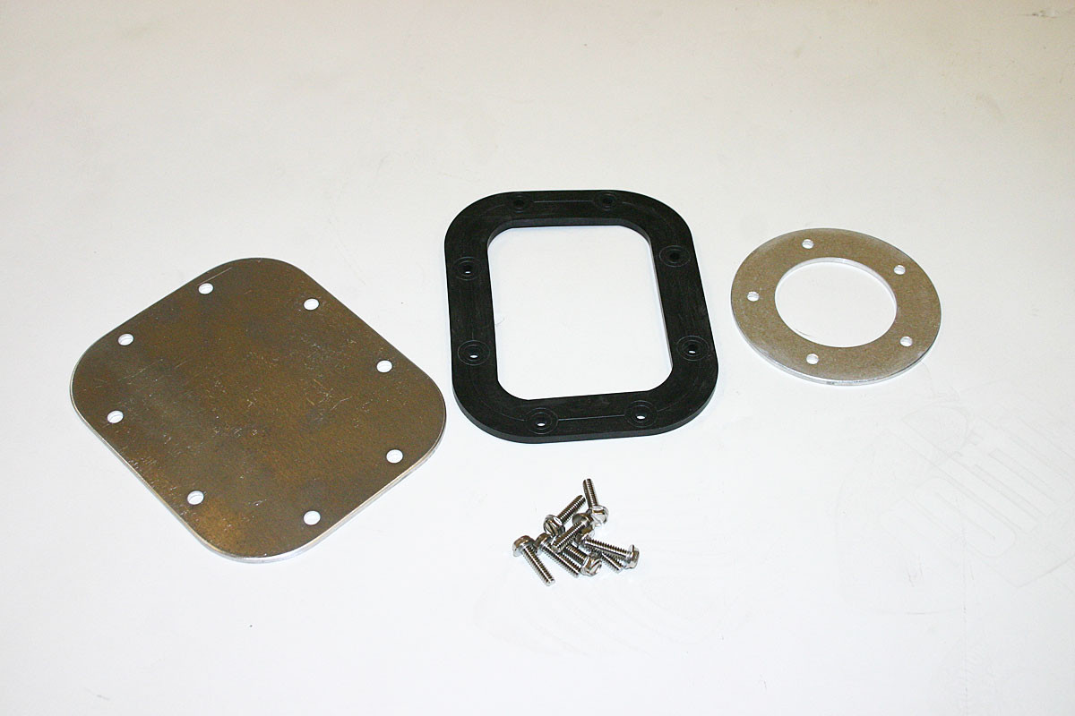 Optional fuel pump blank plate, gasket or CJ pick up adapter for the BST-4000