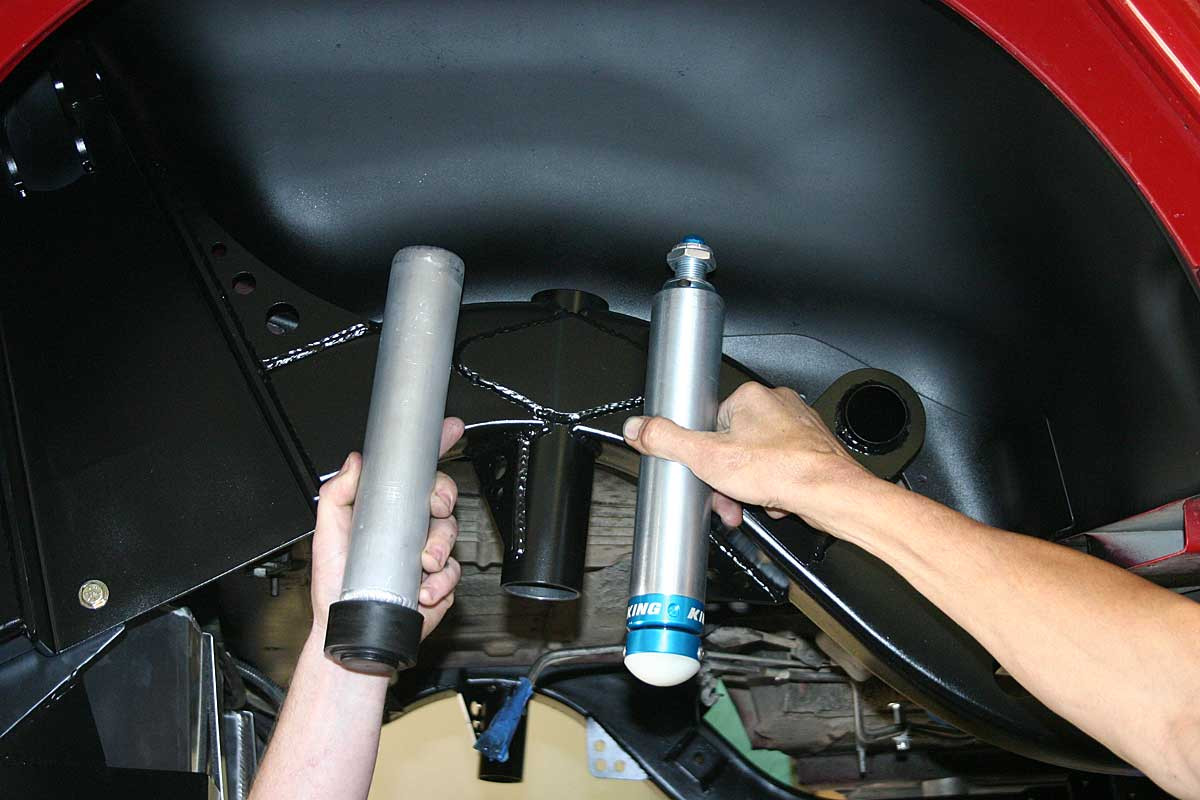 Same length as a compressed air bump stop, so you can upgrade down the road