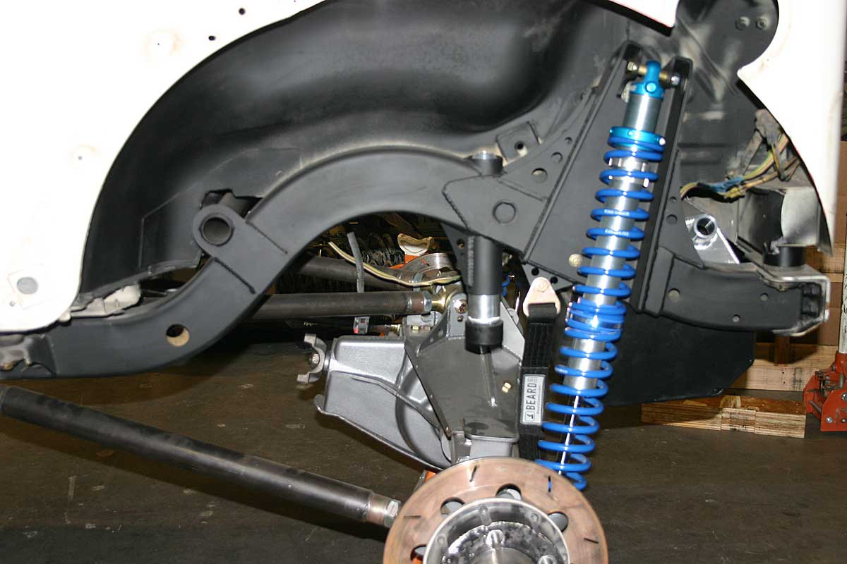 Shown here on the rear suspension with coil over shock