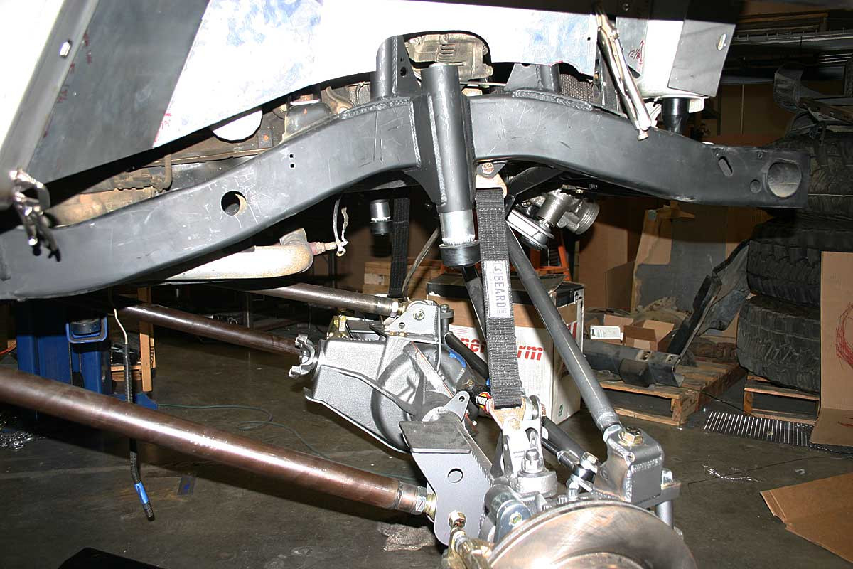 Shown here on the front suspension set up for a coil over shock
